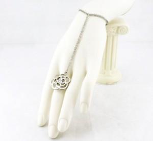 bracelet bague fleur filigrane