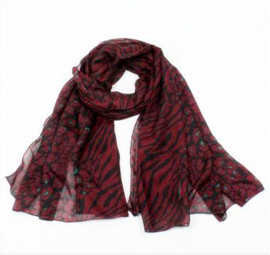 foulard bordeaux
