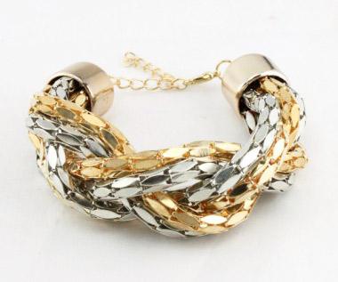 bracelet grosses mailles doré