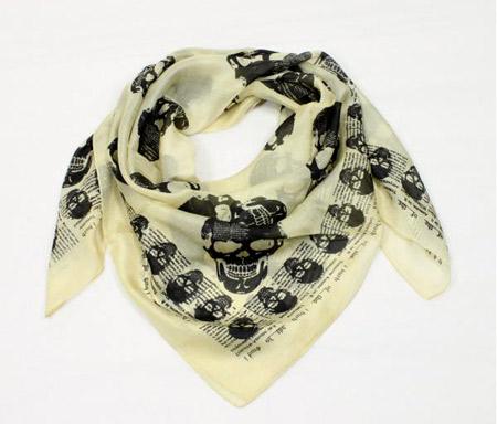 foulard tête de mort
