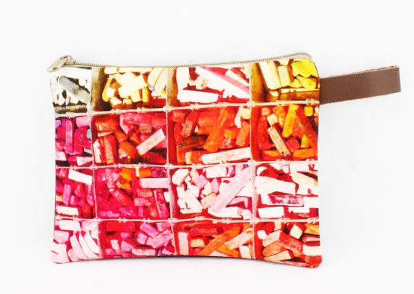 pochette coton cuir colorée