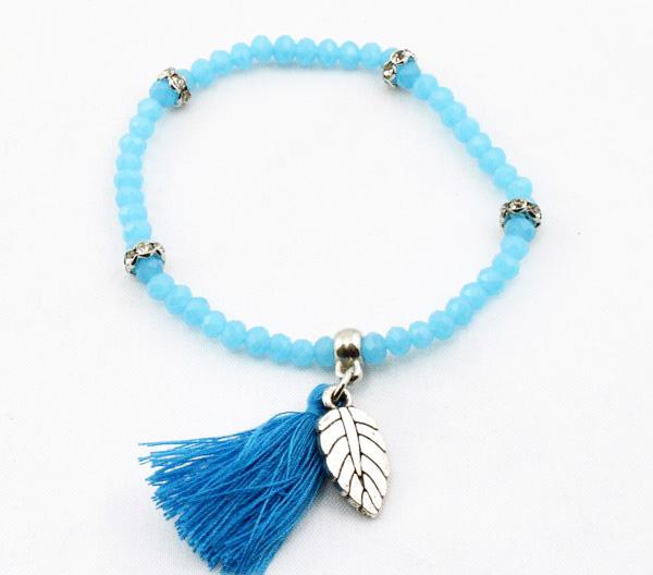 bracelet elastique pompom