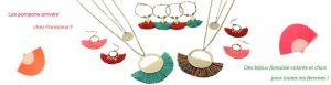 Bannière bijoux fantaisie pompon