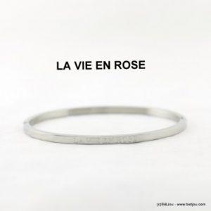 bracelet jonc ouvrable gravé