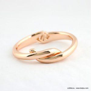 bracelet jonc ouvrable rose cuivré