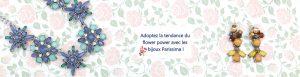Bandeau bijoux fleurs Parissima