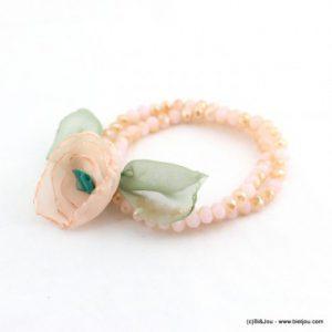 bracelet elastique fleurs