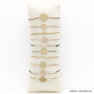 bracelet fantaisie colorés