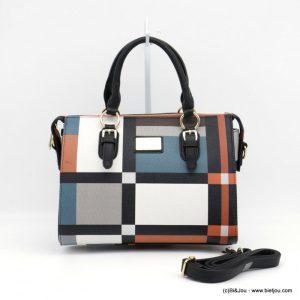 sac à main géométrique