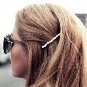 Barrette : perles