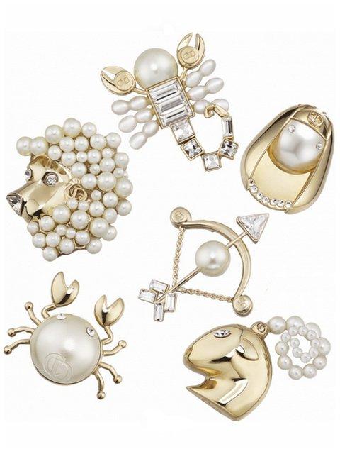 Broche signes astrologiques Dior