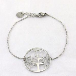 Bracelet en acier : arbre de vie