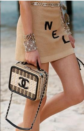 Sac coffret en osier et paille P/E 2019 Chanel