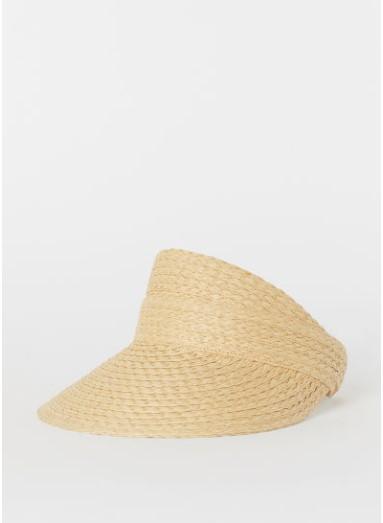 Chapeau à visière en paille H&M