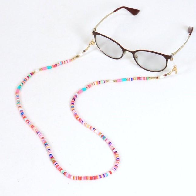 Pour des lunettes plus originales et extravagantes pour cet été, Parissima, fort d'une expérience de 20 ans, vous propose une chaîne de lunettes en perles fluo type Heishi.